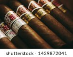 cuban cigars in a humidor.... | Shutterstock . vector #1429872041