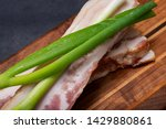 uncured apple smoked bacon...   Shutterstock . vector #1429880861