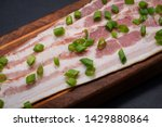 uncured apple smoked bacon...   Shutterstock . vector #1429880864
