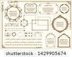 ornate vintage design elements... | Shutterstock .eps vector #1429905674