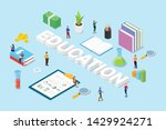 education concept with big... | Shutterstock .eps vector #1429924271