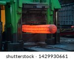Hot Forgings Are Being Processed