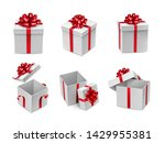 different white cube shaped... | Shutterstock .eps vector #1429955381