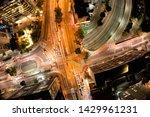 Aerial view of crossing Doctor Arnaldo and Paulista Avenues, São Paulo, Brazil. Night