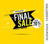 final sale banner  up to 70 ... | Shutterstock .eps vector #1430007404