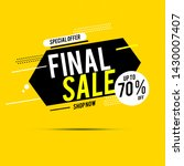 final sale banner  up to 70 ... | Shutterstock .eps vector #1430007407