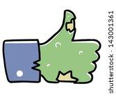 zombie like hand | Shutterstock .eps vector #143001361