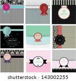 set of invitation cards ... | Shutterstock .eps vector #143002255