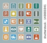 set of medicine icons | Shutterstock .eps vector #143003341