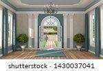 home entrance of a luxury villa ...   Shutterstock . vector #1430037041