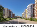 modern apartment building with... | Shutterstock . vector #1430038994
