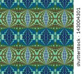 pattern of hand painted on silk ... | Shutterstock . vector #143004301
