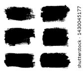 brush strokes set  isolated... | Shutterstock .eps vector #1430045177
