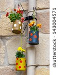 Hanging Flowerpots Made With...