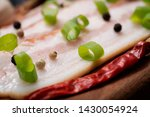 uncured apple smoked bacon...   Shutterstock . vector #1430054924