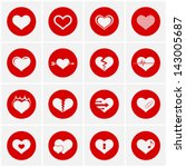 heart icon set | Shutterstock .eps vector #143005687