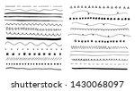 hand drawn dividers set.... | Shutterstock .eps vector #1430068097