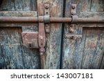 Rusty Lock Of Old Gates Of...