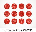japanese icons | Shutterstock .eps vector #143008759