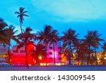 miami beach  florida  hotels...   Shutterstock . vector #143009545