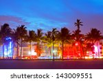miami beach  florida  hotels... | Shutterstock . vector #143009551