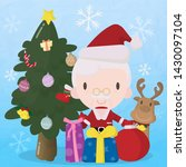 santa with objects in christmas ... | Shutterstock .eps vector #1430097104