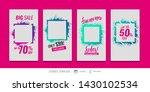 editable templates for social... | Shutterstock .eps vector #1430102534
