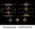 vintage set. floral elements... | Shutterstock .eps vector #1430118764