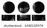 set of black grunge round and... | Shutterstock .eps vector #1430135474