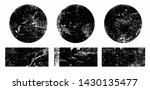 set of black grunge round and... | Shutterstock .eps vector #1430135477
