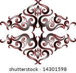 illustration of a tribal pattern | Shutterstock . vector #14301598