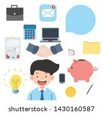 business  objects flat icons... | Shutterstock .eps vector #1430160587