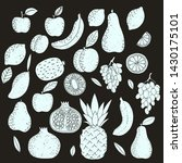 set of stamped fruits. hand...   Shutterstock .eps vector #1430175101