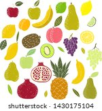 set of stamped fruits. hand...   Shutterstock .eps vector #1430175104