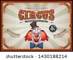 vintage circus poster with... | Shutterstock .eps vector #1430188214