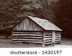 A Log Cabin At Cades Cove In...