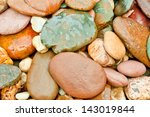 Colorful River Rocks In Thailand