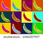 pop art style banana in dot... | Shutterstock .eps vector #1430207957
