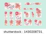 web banner layout set with ice... | Shutterstock .eps vector #1430208731