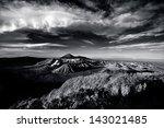 Mount Bromo Under Cloudy Sky