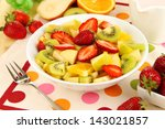 useful fruit salad of fresh... | Shutterstock . vector #143021857