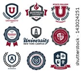 set of university and college... | Shutterstock . vector #143024251