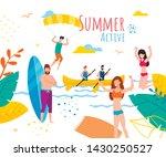 active summer motivation banner.... | Shutterstock .eps vector #1430250527