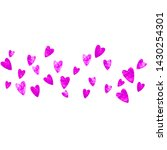 wedding confetti with pink... | Shutterstock .eps vector #1430254301