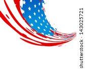 stylish creative american... | Shutterstock .eps vector #143025721