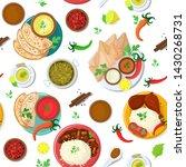 indian food vector india... | Shutterstock .eps vector #1430268731