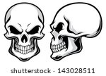 cartoon skulls | Shutterstock .eps vector #143028511
