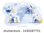 global outsourcing  people... | Shutterstock .eps vector #1430287751