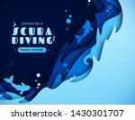 scuba diving  snorkeling and... | Shutterstock .eps vector #1430301707