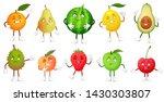cartoon fruit character. happy... | Shutterstock . vector #1430303807